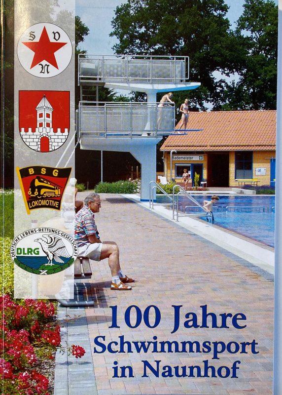 """Die Festschrift """"100 Jahre Schwimmsport in Naunhof"""" können Sie jederzeit über unser Sportbüro für 10€ erwerben."""